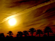 Leverage in the Sky. Captured in the Palm Desert near Palm Springs California Royalty Free Stock Image