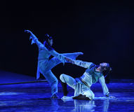 Leveraging each other-The dance drama The legend of the Condor Heroes Royalty Free Stock Photos