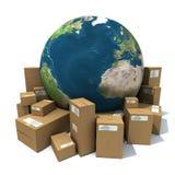 leverans över hela världen Arkivfoton
