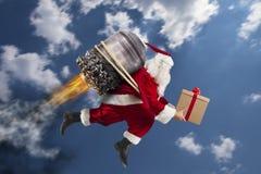 Leverans av julgåvor Arkivfoton