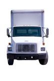 leverans isolerad lastbilwhite Royaltyfri Foto