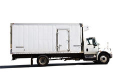 leverans kyld lastbil Royaltyfri Bild
