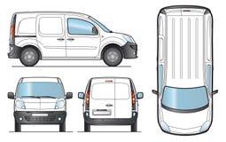 leverans mall skåpbil vektor vektor illustrationer