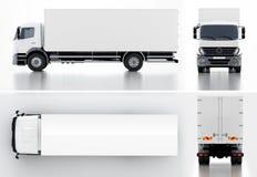 Leveransen/last åker lastbil Arkivbilder