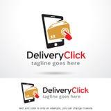 Leveransklick Logo Template Design Vector Arkivfoton