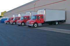 leveranslastbilar Fotografering för Bildbyråer