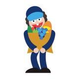 Leveranslivsmedelsbutikgrönsaker och frukter stock illustrationer