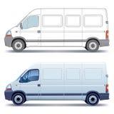 leveransskåpbil vektor illustrationer