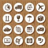 Leveranssymbolsuppsättning Arkivfoton