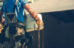 Leverantör för konstruktionsplats arkivbild