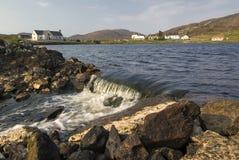Leverburghdorp, Eiland van Harris, Buitenhebrides, Schotland Royalty-vrije Stock Foto's