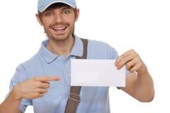 leverera postbrevbäraren Royaltyfri Fotografi