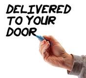 levererad dörrhandstrategi till ditt Arkivbild