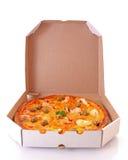 levererad pizza Arkivfoto