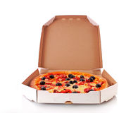 levererad pizza Royaltyfri Foto