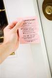 Levering: Nota voor Ontbroken Leveringspoging Stock Fotografie