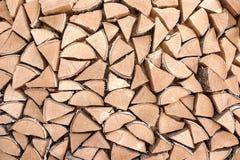Levering van brandhout Stock Afbeeldingen