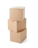 Levering van het het pakket de bewegende vervoer van de kartondoos stock afbeeldingen
