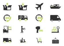 Leverings eenvoudig pictogrammen Royalty-vrije Stock Afbeelding