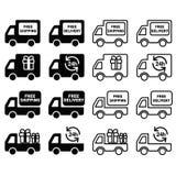 Leverings vastgesteld pictogram Stock Afbeeldingen