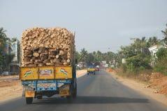 leverings vrachtwagen Stock Afbeeldingen