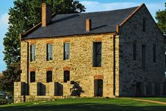 Leveringsdepot bij Fort Smith National Historic Site Royalty-vrije Stock Foto's