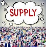 Leveringsvoorraad die Logistisch Distributie Bedrijfsconcept op de markt brengen stock afbeelding