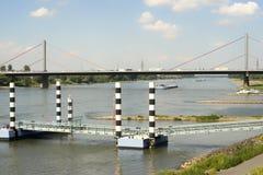 Leverkusen huvudvägbro Arkivbilder