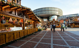 Leverkusen - julmarknad Arkivbilder