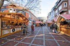 Leverkusen - Kerstmismarkt Stock Foto's