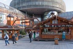 Leverkusen, mercado do Natal Fotografia de Stock Royalty Free