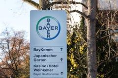 Leverkusen, North Rhine-Westphalia/germany - 23 11 18: bayer headquarters in leverkusen germany. Leverkusen, North Rhine-Westphalia/germany - 23 11 18: the bayer royalty free stock photography