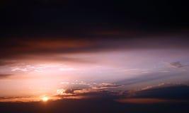 Levers de soleil Photos libres de droits