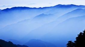 Levers de soleil en montagne de Huanshang Images libres de droits