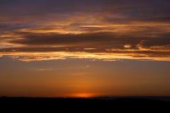 Levers de soleil et couchers du soleil Photo libre de droits