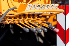 Levers of power Stock Image