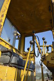 Levers of a road grader Stock Photography