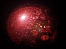 Levertumor, ziekte, CT beeld Stock Afbeelding