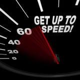 Levez-vous pour expédier - l'indicateur de vitesse Images libres de droits