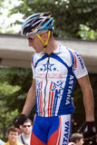 Levi Leipheimer. The bicyclist Levi Leipheimer (Astana team) at the international cycling event Giro d\\\'Italia Royalty Free Stock Photography
