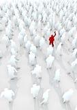 Levi in piedi fuori dalla folla Immagini Stock