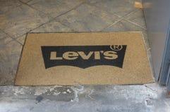 Levi`s brand logo carpet Stock Photo