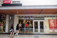 Levi`s Outlet store at Genting Highlands, Malaysia royalty free stock photo