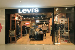 Levi's shop in hong kong Stock Photo