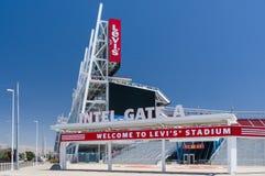 Levi`s Stadium Exterior and Logo stock image