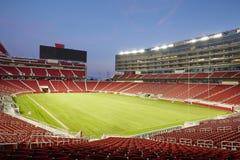 LEVI'S stadium, noc widok fotografia stock
