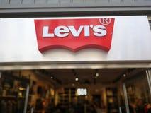 Levi-` s Strauss Speicher lizenzfreie stockfotos