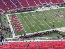 Levi Stadium. Gegen Seattle seahawks royalty free stock photos