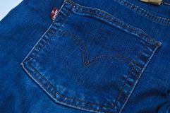Levi Strauss 501 etiket stock afbeelding