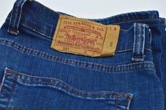 Levi Strauss 501 etiket royalty-vrije stock afbeeldingen